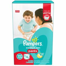 Fralda Pampers Confort Sec Pants Xxg 16 Und