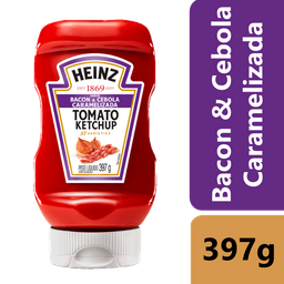 Ketchup Heinz Bacon & Cebola Caramelizada 397g