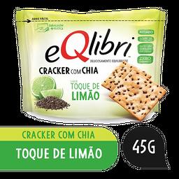 Biscoito Cracker com Chia Toque de Limão Eqlibri Pacote 45g