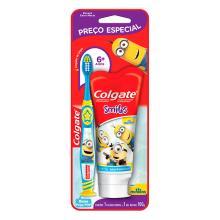 Kit Colgate Minios Escova Dental + Creme Dental