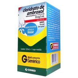 Xarope Ambroxol Adulto Genérico 6Mg/ mL Cimed 120 mL