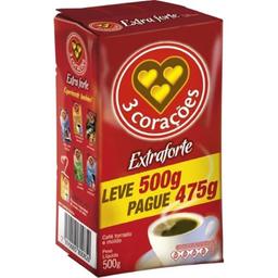 Café 3 Corações Extraforte Leve Pague 475 g 500 g