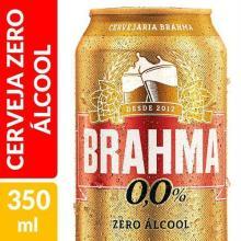 Cerveja Brahma Zero Álcool Com 350 mL