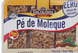 Pé De Moleque Dacolonia Zero 100 G
