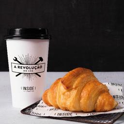 Chá do dia, Café ou Café com Leite Grande + Croissant