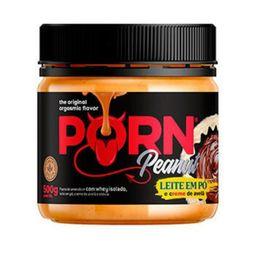 Pasta De Amendoim Leite Em Pó E Creme De Avelã Porn Fit 500 g