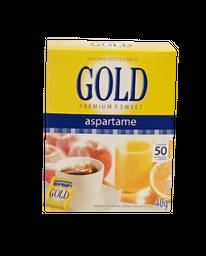Adoçante De Aspartame Com 50 Envelopes Gold