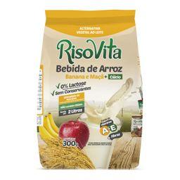 Bebida Arroz Pó Banana Maçã Sachê Risovita 300 g