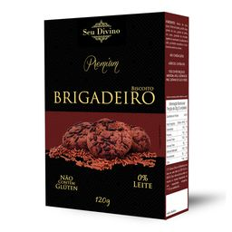 Biscoito Seu Divino Premium Brigadeiro S Glúten 0% Leite 120 g
