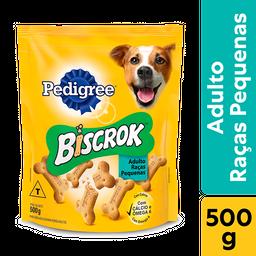 Biscoito Pedigree Biscrok Para Cães Adultos Raças Pequenas 500 g
