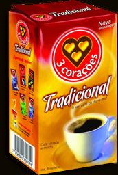 Café 3 Corações À Vácuo Torrado E Moído Tradicional 500 g