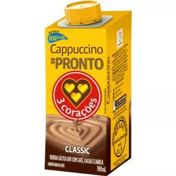Cappuccino 3 Corações Pronto Classic Com 190 mL