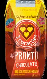 Cappuccino Pronto De Chocolate 3 Corações 185 mL