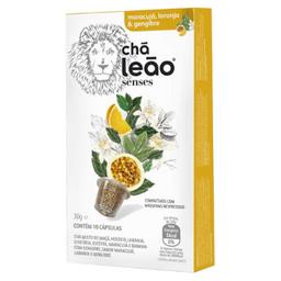 Cápsula Chá Leão Senses Maracujá, Laranja E Gengibre 10 Und 30 g