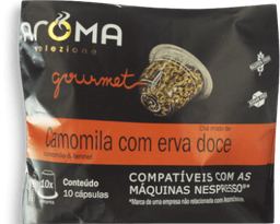 Cápsulas Chá Camomilla Com Erva Doce Aroma 10 Und