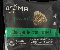 Cápsulas Chá Verde Com Hortelã Aroma Com 10 Und