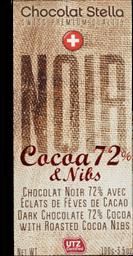 Chocolate Suíço Stella 72% Favas Cacau