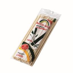 Espeto Bambu Arco Iris Com 50 Und
