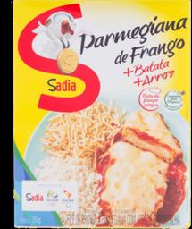 Filé De Frango À Parmegiana Com Arroz E Batata Palha Sadia 350 g