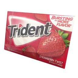 Goma De Mascar Trident Strawber Twist
