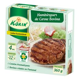 Hambuguer Bov Korin Congelado 360 g