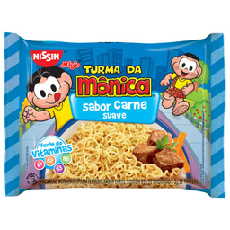 Macarrão Instantâneo Miojo Turma Da Mônica Carne Nissin 85 g