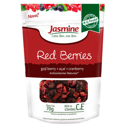 Mix De Frutas Red Berries Desidratado Picado Jasmine 70 g