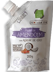 Pasta Amendoim Açúcar De Coco Eat Clean Bag 200 g