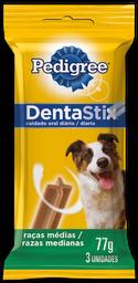 Petisco Cães Pedigree Dentastix Raças Médias 3 Und De 25 g