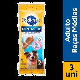 Petisco Pedigree Dentastix Para Cães Adultos Raças Médias 3 U