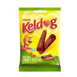 Petisco Keldog Bifinho De Carne E Vegetais Kelco 55 g