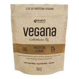Proteína Vegana Shake Caffè Mocha Harts Natural 360 g