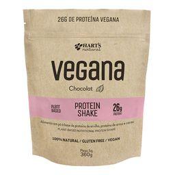Proteína Vegana Shake Chocolate Harts Natural 360 g