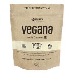 Proteína Vegana Shake Vanilla Coconut Hart´S Natural 360 g
