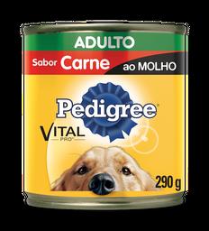 Ração Cães Pedigree Adultos Lata Sabor Carne Ao Molho 290 g