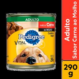 Ração Úmida Pedigree Lata Carne ao Molho para Cães Adultos 290 g