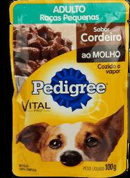 Ração Cães Pedigree Adultos Sachê Cordeiro Ao Molho 100 g