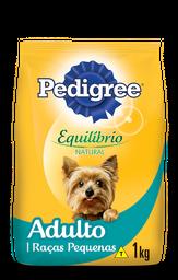 Ração Cães Pedigree Equilíbrio Adultos Raças Pequenas 1 Kg