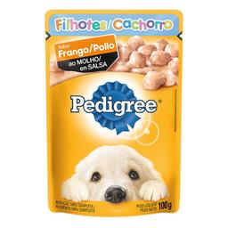 Ração Cães Pedigree Filhotes Sachê Sabor Frango Ao Molho 100 g
