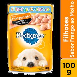 Ração Úmida Pedigree Sachê Frango ao Molho Cães Filhotes 100 g