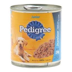 Ração Cães Pedigree Júnior Lata Sabor Carne E Frango Com 280 g