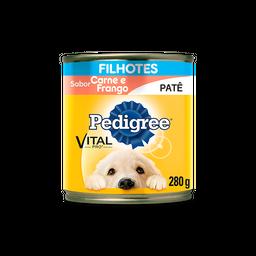 Ração Úmida Pedigree Patê de Carne e Frango Cães Filhotes 280 g
