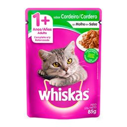 Ração Gatos Whiskas Adulto 1+ Anos Sachê Cordeiro Molho 85 g