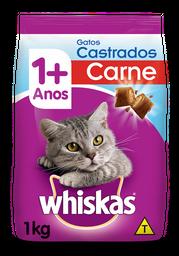 Ração Gatos Whiskas Gatos Castrados 1+ Anos Sabor Carne 1 Kg