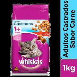 Ração Whiskas Carne Para Gatos Adultos Castrados 1 kg