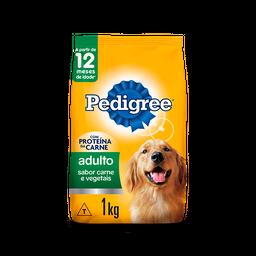 Ração Pedigree Carne/Vegetais Cães Raças Médias/Grandes 1kg