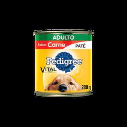 Ração Úmida Pedigree Lata Patê de Carne para Cães Adultos 280 g