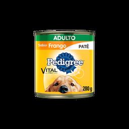 Ração Úmida Pedigree Lata Patê de Frango para Cães Adultos 280 g