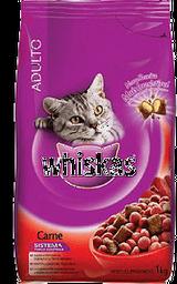 Ração Para Gatos Whiskas Adultos Sabor Carne Com 1 Kg