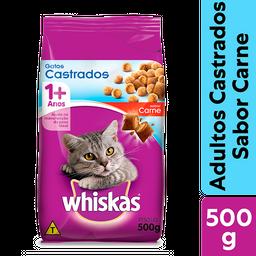 Ração Whiskas Carne Para Gatos Adultos Castrados 500 g